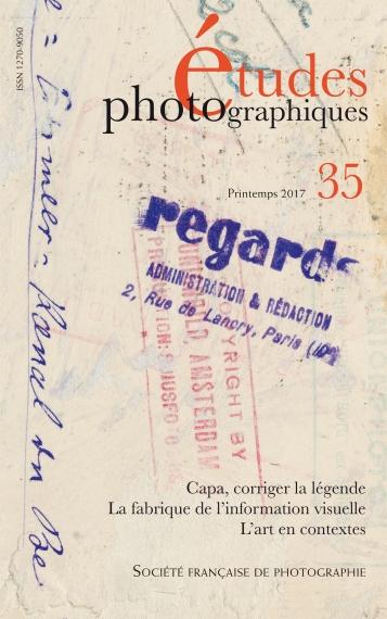 Etudes Photographiques no. 35 Spring 2017, cover