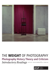 The Weight of Photography, cover