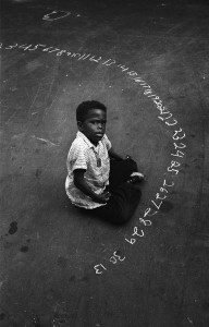 "Harold Feinstein, ""Boy & Chalk Numbers,"" 1955"