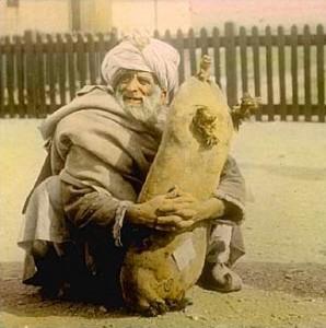 Man with sheepskin, William Henry Jackson, 1895.