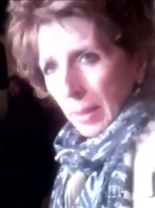 "Linda Katehi, UC Davis Chancellor, still from ""Walk of Shame"" video, 11-20-11."