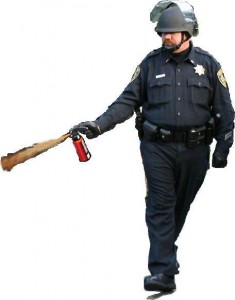 Lt. John Pike with pepper spray - meme.