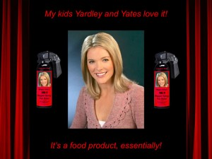 Megyn Kelly's MK-9 Pepper Spray for Kids (advertisement)