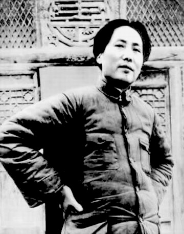 Mao in Yan'an, 1946. Photographer unknown.