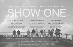 NYU-TSOA Senior Photo Show flyer, 2009