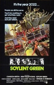 """Soylent Green,"" movie poster, 1973."