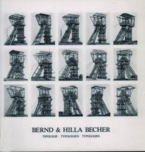 "Bernd & Hilla Becher, ""Tipologie Typologien Typologies,"" 1990, cover."