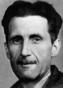 George Orwell's press card portrait, 1933.