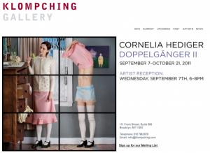 Klompching Gallery, Cornelia Hediger opening,  screenshot, 2011.
