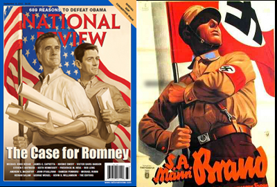 National Review Romney-Ryan cover, 9-10-12, with Nazi propaganda poster.