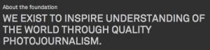 World Press Photo motto