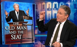 Jon Stewart, The Daily Show, screenshot, September 1, 2012.