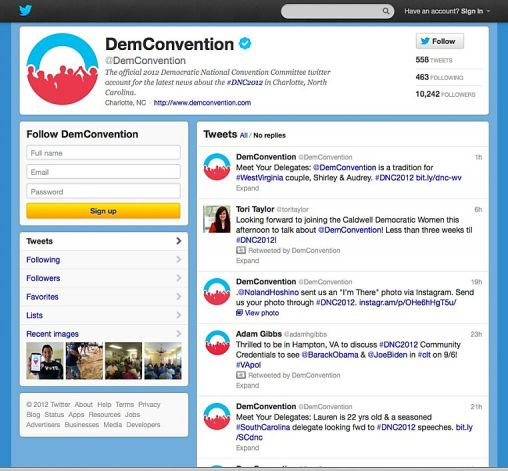 Democratic National Convention Committee Twitter account screenshot, courtesy DNCC.