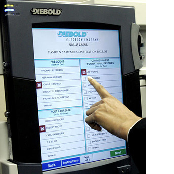 Diebold electronic voting machine, model HR811.