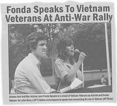 Photoshopped composite of John Kerry and Jane Fonda, 2004.