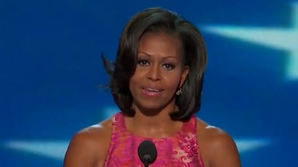 Michelle Obama, DNC 2012 speech 9-4-12, screenshot.