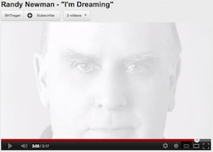 "Randy Newman, ""I'm Dreaming"" video, screenshot."