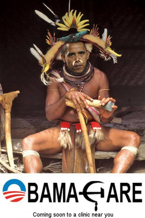 Obama as witch doctor
