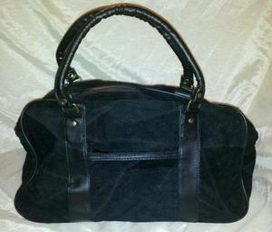 black patchwork suede purse