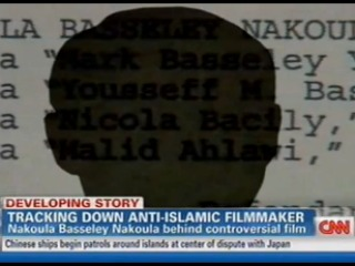 CNN report on anti-Islamic filmmaker, 9-14-12, screenshot.