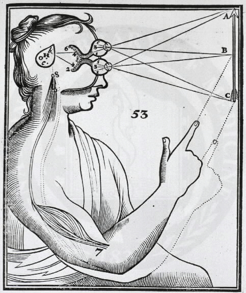 Formation of the retinal image, as illustrated by René Descartes in his La Dioptrique (Optics) of 1637.