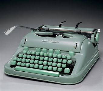 Jack Kerouac's last typewriter, a Hermes 3000 manual model.