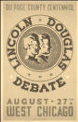 Lincoln-Douglas Debate poster, 1858.