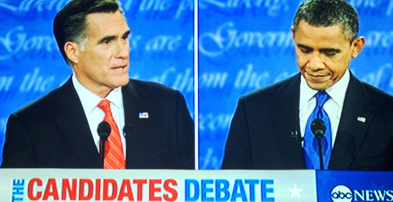 First presidential debate (University of Denver), October 3, 2012, screenshot.