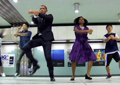 """Obama Gangnam Style!"" screenshot."