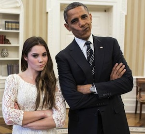 Barack Obama and McKayla Maroney, 11-15-12. (Photo: Pete Souza, The White House)