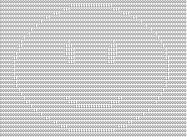 Binary smiley face