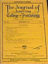 Journal of The American College of Proctology, June-September 1936.