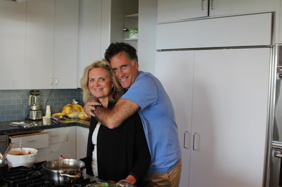 Mitt and Ann Romney, Thanksgiving 2012, from his Facebook page.