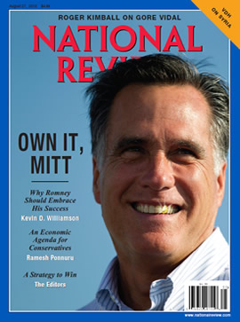 National Review, cover, August 27, 2012.