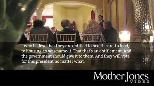 "Romney ""47 percent"" speech, MotherJones, screenshot."