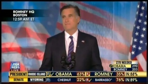 Mitt Romney, concession speech, Boston, 11-7-12, screenshot.