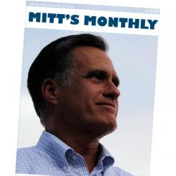 """Mitt's Monthly,"" imaginary cover, The New Republic, November 2012."