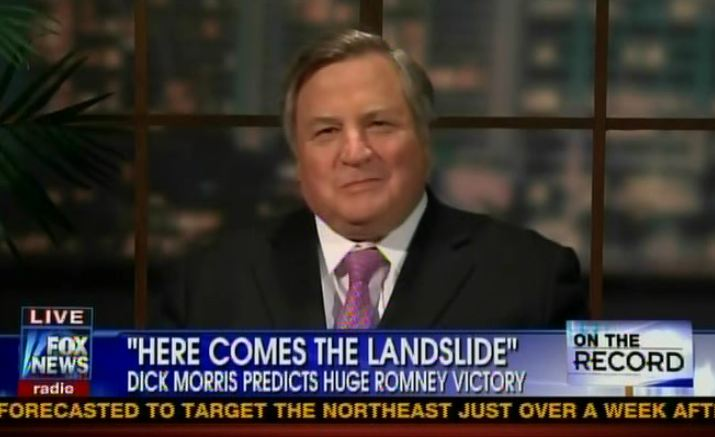 Dick Morris making a fool of himself, Fox News, 11-4-12, screenshot.