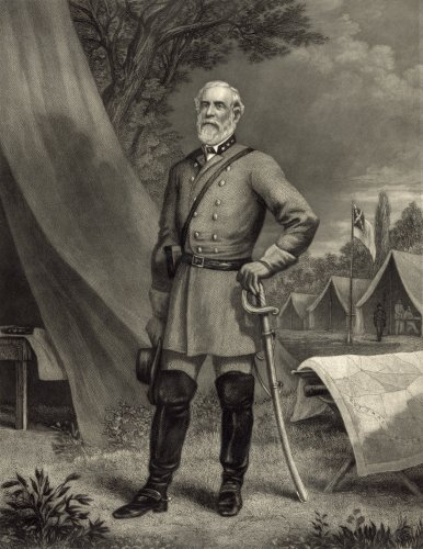 Gen. Robert E. Lee, photographed by Mathew Brady  in his N.Y. studio, 1867; engraved by J.C. McRae, N.Y.