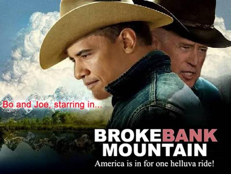 "Obama-Biden ""Brokebank Mountain"" photocollage."