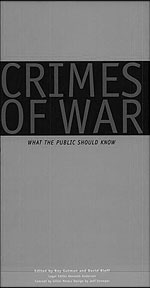Crimes of War, edited by Roy Gutman and David Rieff (1999), cover.