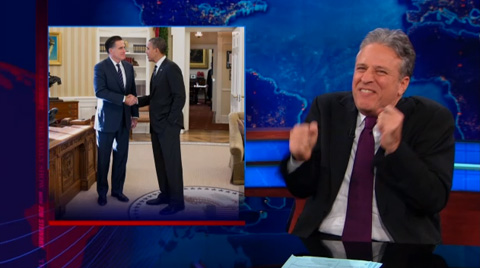 Jon_Stewart, The Daily Show, Obama-Romney lunch, 11-3-12, screenshot.