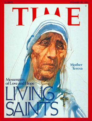 Mother Teresa, Time magazine cover, 12-29-75.