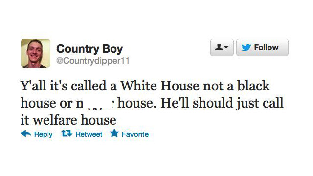 "Election 2012 tweet from ""Country Boy,"" 11-6-12."
