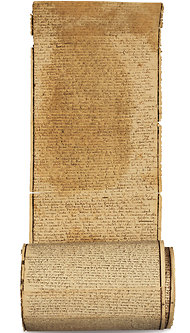 "Marquis de Sade, ""The 120 Days of Sodom"" (1785), scroll."