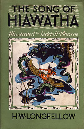 "H. W. Longfellow, ""The Song of Hiawatha,"" cover."