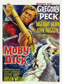 """Moby Dick"" (1956), movie poster."