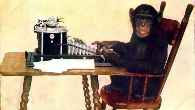 """Chimpanzee Typing,"" 1907. Courtesy New York Zoological Society."