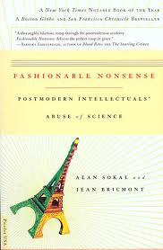 "Alan Sokal and Jean Bricmont, ""Fashionable Nonsense"" (1998), cover."