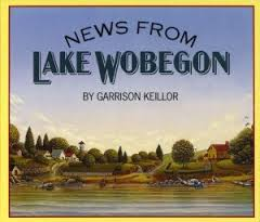 """Garrison Keillor, """"News from Lake Wobegon"""" (1990), cover."""